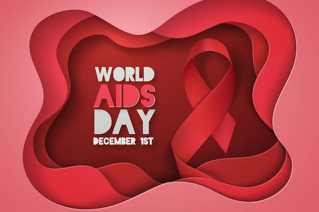 Día mundial del sida en estilo de papel