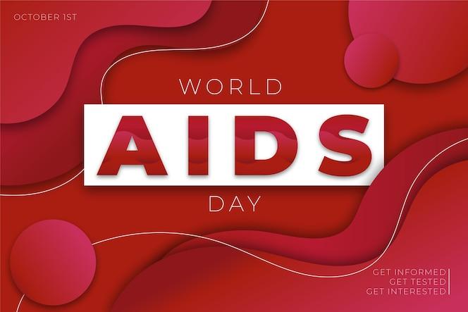 Día mundial del sida en papel tapiz estilo papel