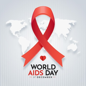 Día mundial del sida plano
