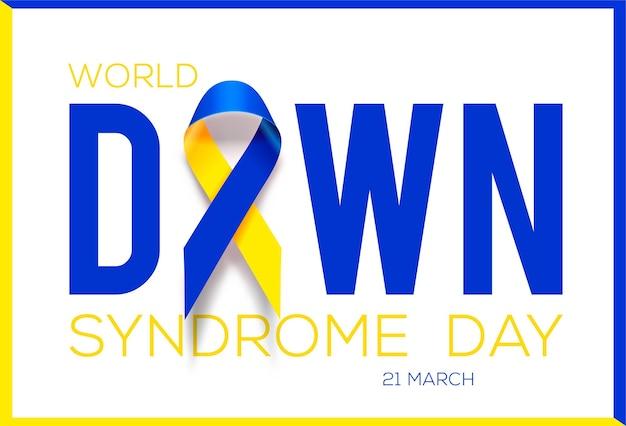Día mundial del síndrome de down. cinta de conciencia.