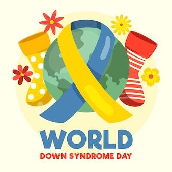 Día mundial del síndrome de down ilustrado