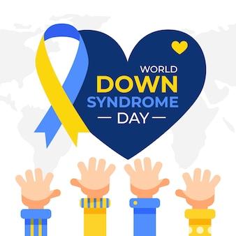 Día mundial del síndrome de down plano