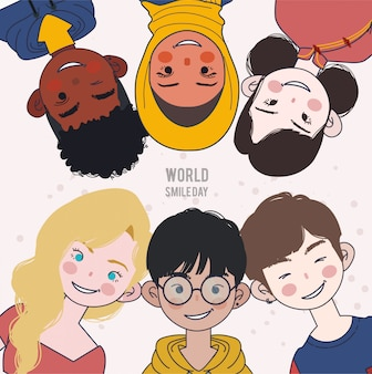 Día mundial de la sonrisa. ilustración del día mundial de la sonrisa.