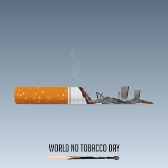Día mundial sin tabaco, 31 de mayo cartel de no fumar.