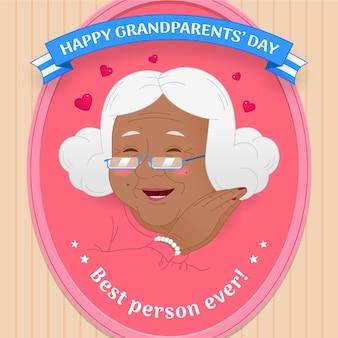 Día nacional de los abuelos con la abuela.