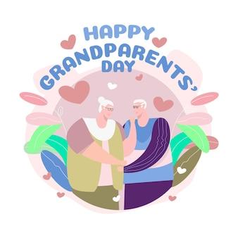 Día nacional de los abuelos (estados unidos) en diseño plano