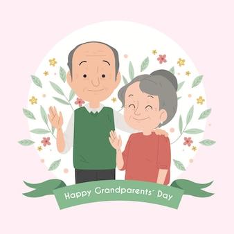 Día nacional de los abuelos con pareja de ancianos