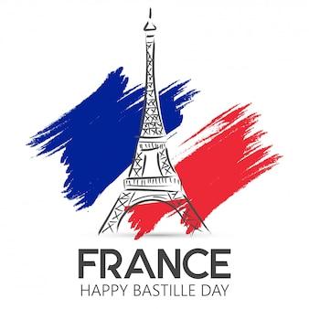 Día nacional de francia. feliz dia de la bastilla