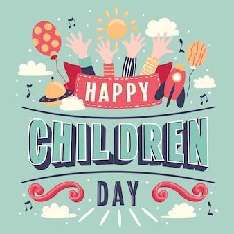 Día del niño letras de la mano