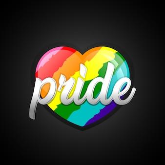 Dia del orgullo corazon