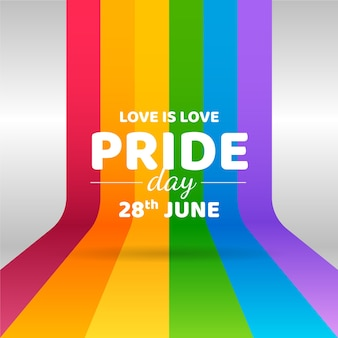 Día del orgullo con diseño de bandera