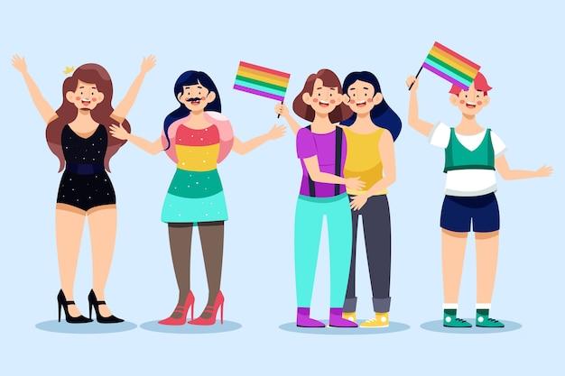 Día del orgullo, gente