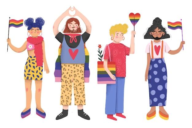 Día del orgullo personas juntas