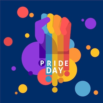 Día del orgullo del puño de color arcoiris