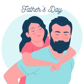 Día del padre en diseño plano