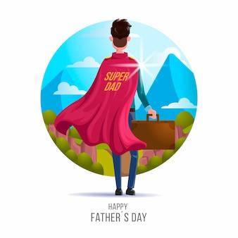 Día del padre con papá superhéroe