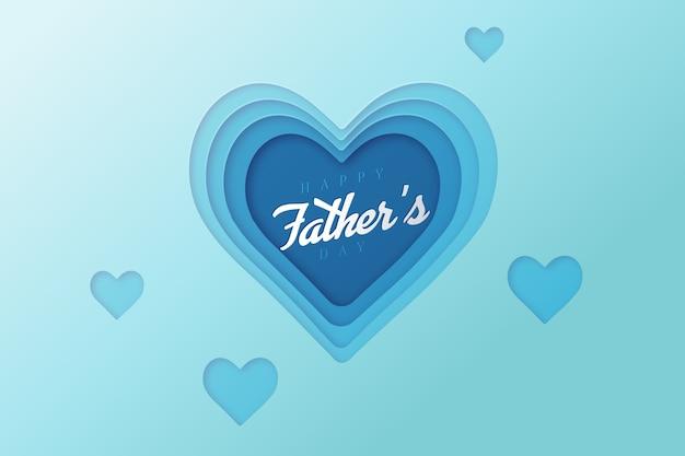 Día del padre realista y corazones
