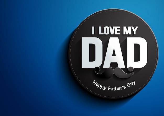 Día del padre sobre fondo azul
