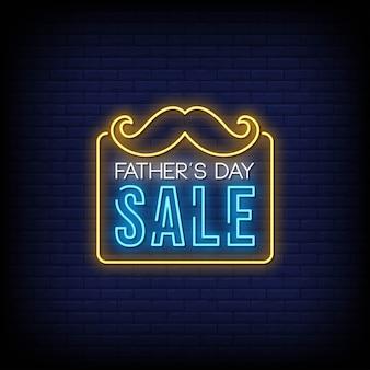 Día del padre venta letreros de neón estilo texto