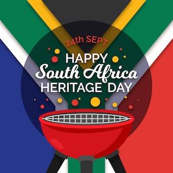 Día del patrimonio con bandera