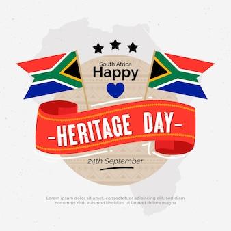 Día del patrimonio con banderas