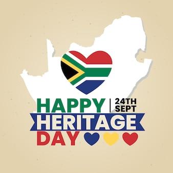 Día del patrimonio con corazón y mapa