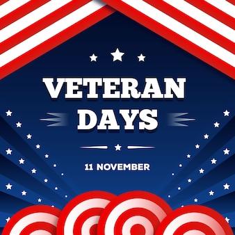 Día plano de los veteranos el 11 de noviembre