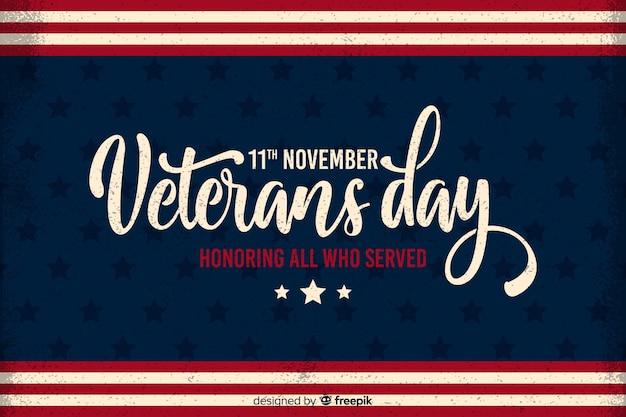Día plano de los veteranos en honor a todos los que sirvieron