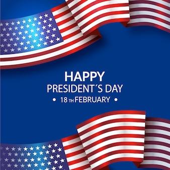 Día del presidente con bandera realista