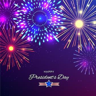 Día del presidente de fuegos artificiales