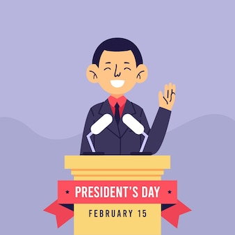 Día del presidente con el hombre como candidato
