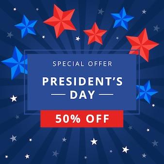 Día del presidente con oferta especial