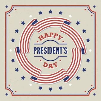 Día del presidente vintage
