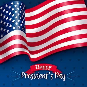 Día de los presidentes con bandera realista