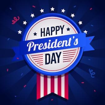 Día de los presidentes en diseño plano