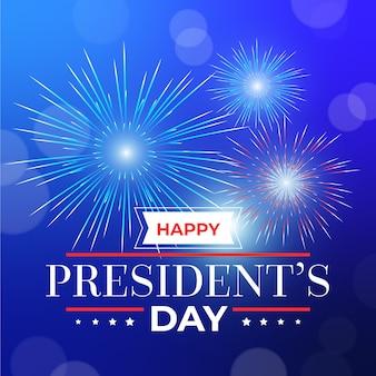 Día de presidentes de fuegos artificiales