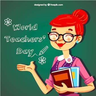 Día del profesorado, profesora simpática