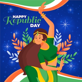 Día de la república dibujado a mano