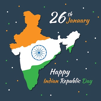 Día de la república india en diseño plano