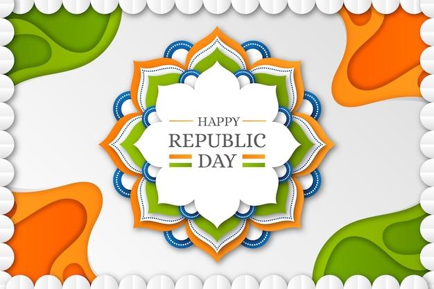 Día de la república india en estilo papel.