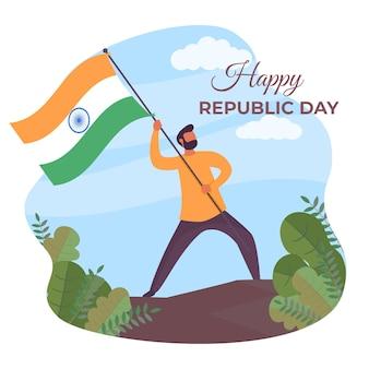Día de la república india plana