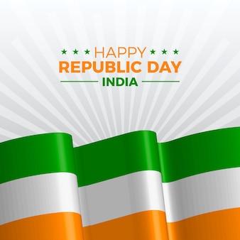 Día de la república india realista