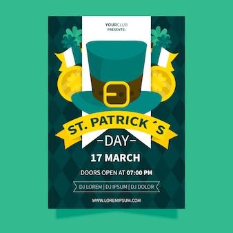 Día de san patricio con sombrero de copa irlandés y cintas