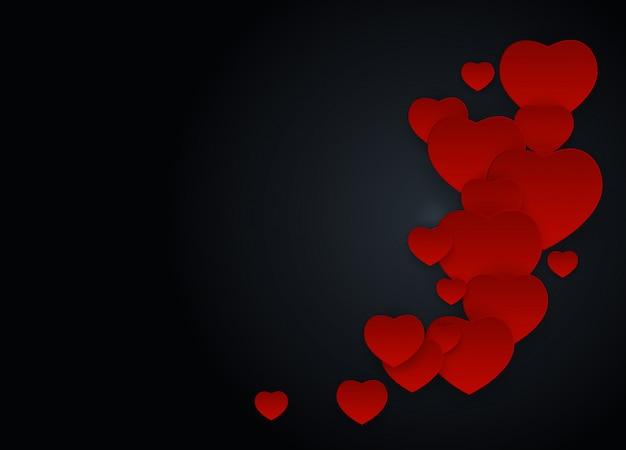 Día de san valentín amor y sentimientos.