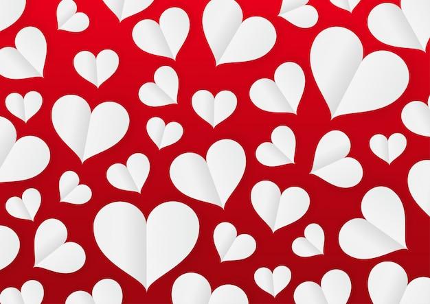 Día de san valentín de corazón de papel