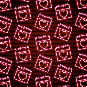 Dia de san valentin neon