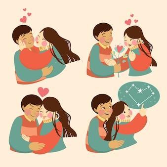 Día de san valentín, pareja, enamorado