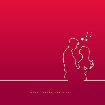 Dia de san valentin con pareja de fondo