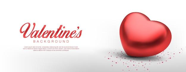 Día de san valentín realista. romántico