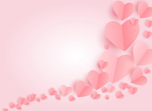 Día de san valentín él símbolo. fondo de amor y sentimientos. ilustración